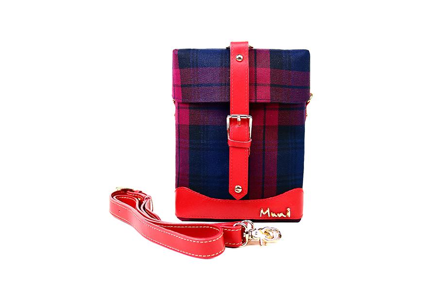 經典格紋  設計款方盒子小包