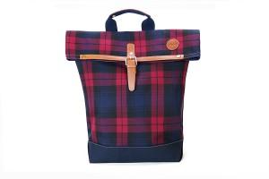 格紋日式後背包