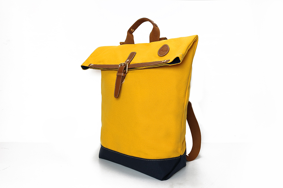 經典防潑水休閒反折雙色後背包2